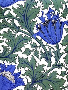 anemone (william morris - ploughyourownfurrow)