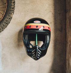 Waynscot on Etsy Bell Moto 3, Indian Scout, Scrambler, Bobber, Helmets, Decoration, Furniture Ideas, Garage, France
