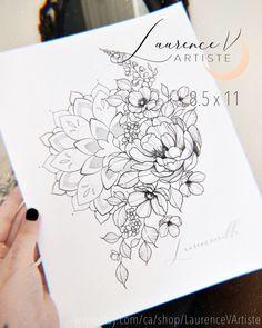 Floral Tattoo Design, Mandala Tattoo Design, Flower Tattoo Designs, Flower Tattoos, Floral Mandala Tattoo, Mandala Tattoo Sleeve Women, Sleeve Tattoos For Women, Tattoo Sleeve Designs, Up Tattoos