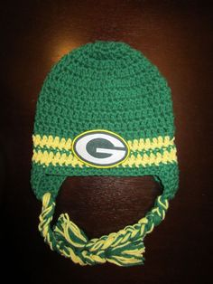 NEW Green Bay Packers Football NFL Crochet Toddler Hat