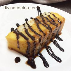 tarta de flan y sobaos Mexican Food Recipes, Sweet Recipes, Ethnic Recipes, Spanish Food, Omelette, Churros, Food And Drink, Cooking Recipes, Yummy Food
