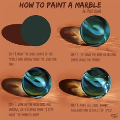 Drawing Tutorial Painting this marble was so much fun! If you're going to try this too, please share the result ❤ TIP - Digital Painting Tutorials, Digital Art Tutorial, Art Tutorials, Drawing Tutorials, Step By Step Sketches, Poses References, 3d Drawings, Drawing Faces, Drawing Techniques