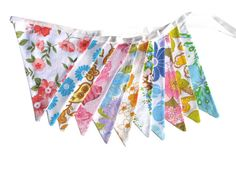 Vintage Retro Pretty Multi-Colour Floral by MerryGoRoundHANDMADE