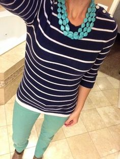 navy & teal--my favorite combo!