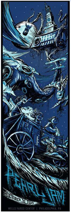 Pearl Jam Philadelphia Wells Fargo Center 10/22/2013 by Dayne Henry Jr, via Behance