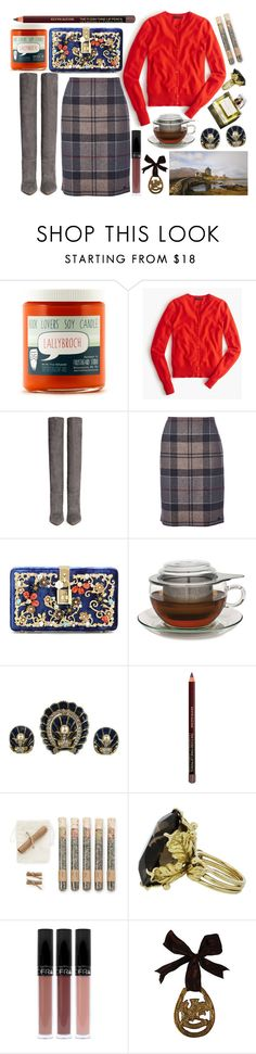 """Blowing in the breeze"" by karllydolly ❤ liked on Polyvore featuring J.Crew, Gianvito Rossi, Barbour, Dolce&Gabbana, Adagio Teas, Garance Doré, Kevyn Aucoin, Truly Aesthetic, Boots and scotland"