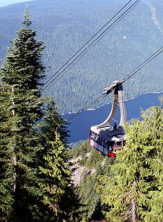 Swiss-made cable cars, Grouse Mountain, Vancouver, BC, Canada Vancouver Skyline, Visit Vancouver, North Vancouver, Ski Posters, Canada Eh, Alaskan Cruise, Western Canada, True North, The Beautiful Country