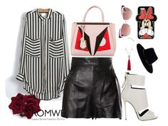 """""""Romwe Contest"""" by eu-ju-cunha ❤ liked on Polyvore featuring Moschino, Giuseppe Zanotti, Fendi, Forever 21, Zimmermann, Yves Saint Laurent and Chanel"""