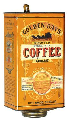 Golden Days Coffee Can | Antique Advertising Value and Price Guide