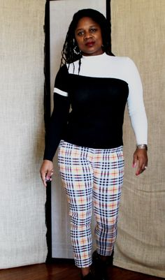 Spring Fling: Cheerful Plaid & Black/White Cozy Sweater – Nzuri N* Simplicity Yellow Sandals, Yellow Heels, White Plaid, Black And White, James Baldwin, One Day I Will, Magazine Articles, Plaid Pants, Qoute