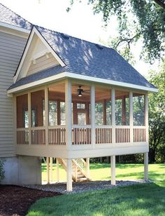 screened porch addition my future home has to have a screened in porch - Gardening For Today Outdoor Rooms, Outdoor Living, Outdoor Patios, Outdoor Kitchens, Porch Addition, Building A Porch, House With Porch, Decks And Porches, Back Porches