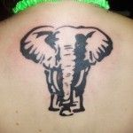 animal back tattoo designs