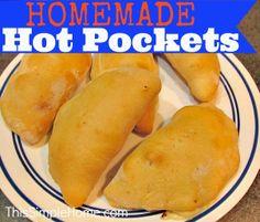 Homemade Hot Pockets Ham and Cheese #homemade  #familyfriendly