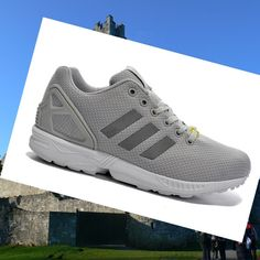 release date 636a9 a37d9 Adidas Originals Zx Flux Women s Running Shoes  Light-Grey Silver Grey.Fashion shoes with good quality is here.