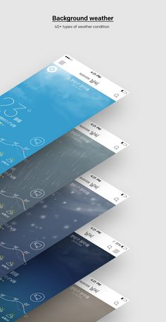 Jung Young Lee on Behance App Ui Design, Mobile App Design, User Interface Design, Mobile Ui, Web Design, Graphic Design, App Wireframe, Weather Application, Cool Designs