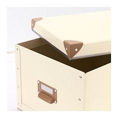 FJÄLLA Box with lid - off-white - IKEA