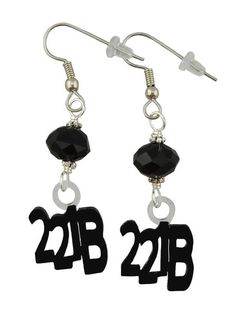 Unique Creations — 221B Earrings,  Sherlock Holmes Inspired -> 221B Bakers St.