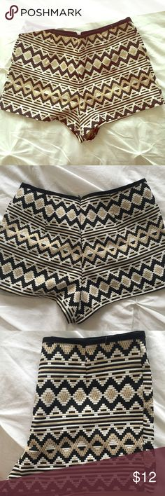 Aztec print shorts Very comfy Aztec print shorts. Perfect for going out! Worn once. one clothing Shorts