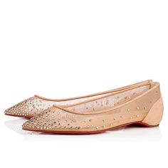 245f8c8b00f61 Shoes - Follies Strass Flat - Christian Louboutin Sparkly Flats