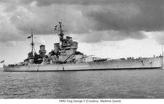 HMS King George V, British battleship, WW2