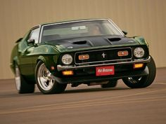 1971 Ford Boss 351 Mustang Front View #mustangvintagecars