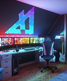 40 Amazing Game Room Design Ideas You Must Copy Now - Game rooms are for the most part zones inside a house that are held for the sake of entertainment and play. The vast majority of these rooms generally. Computer Gaming Room, Gaming Desk Setup, Best Gaming Setup, Gamer Setup, Gaming Pcs, Gaming Rooms, Gaming Desktop, Pc Setup, Gaming Desk Lighting