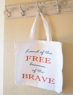 Everyday Tote Bag Land of the Free