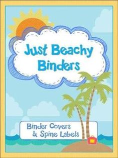 Binder Covers & Spine Labels - Just Beachy (Beach Theme)