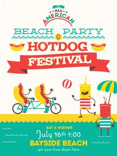 Beach Party and Hotdog Festival! | Ads of the World™
