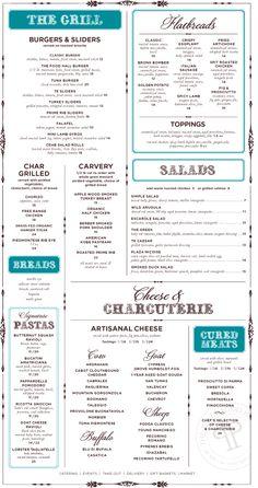 The Plaza Food Hall menu