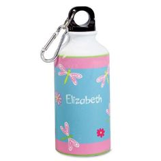 Dragonflies and Flowers Water Bottle $14.99