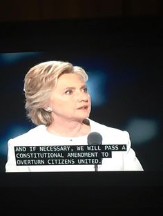 Caught on closed captioning. She must be held to task on this!