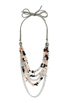 Mix Bead Charm Necklace - Jewellery  - Bags & Accessories