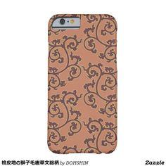 檜皮地の獅子毛唐草文総柄 iPhone 6 ベアリーゼアケース