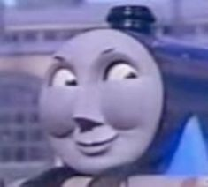 See more 'Thomas the Tank Engine' images on Know Your Meme! Funny Profile Pictures, Funny Reaction Pictures, Funny Photos, Stupid Funny Memes, Funny Relatable Memes, Meme Faces, Funny Faces, Cartoon Jokes, Thomas And Friends