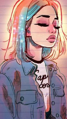 Mi dibujo de Disney - Hoje ela só across paz 💙 light . Tumblr Drawings, Girly Drawings, Cool Drawings, Drawings Of Girls, Drawing Girls, Girl Sketch, Art And Illustration, Anime Art Girl, Cartoon Art