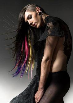 #androgynous coloured hair