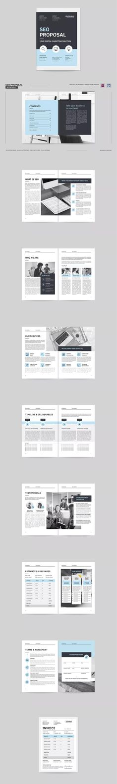 SEO Proposal Brochure Template InDesign INDD - A4 & US Letter Size