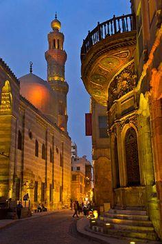 Khan El Khalili district, Qalun mosque, Cairo Egypt