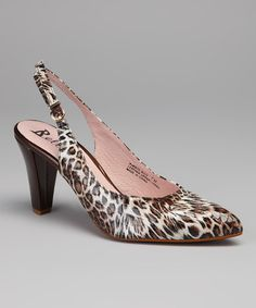 Take a look at this Beige & Brown Leopard Puerto Rico Slingback by Bellini on #zulily today! $25 !!