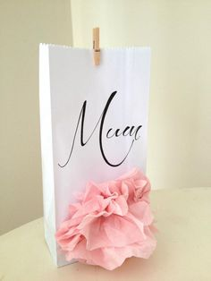 Mum bag with flower Mamma Mia, Tags, Paper, Simple, Flowers, Crafts, Beauty, Beleza, Cosmetology