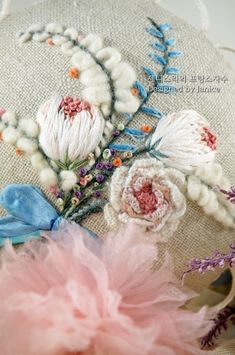 Awesome Most Popular Embroidery Patterns Ideas. Most Popular Embroidery Patterns Ideas. Hand Embroidery Projects, Hand Embroidery Flowers, Learn Embroidery, Silk Ribbon Embroidery, Embroidery Techniques, Floral Embroidery, Embroidery Stitches, Embroidery Patterns, Sewing Art