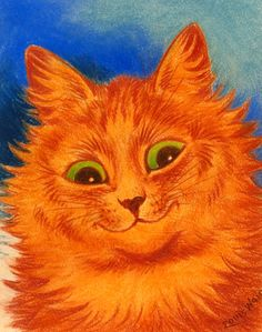 orange cat | by Louis Wain. love my orange kitty :)