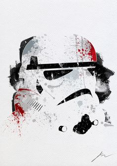 Star Wars Paint Splatter Art For Modern Interior Design - Stormtrooper #StarWars