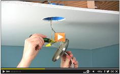 How to Install a Ceiling Fan Brace Watch the #DIY video: http://www.familyhandyman.com/video/v/63615093/how-to-install-a-ceiling-fan-brace.htm