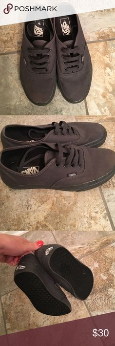 Gray vans Gray vans , they have slot of wear left in them . They are slightly discolored near the toes from wear but you can't tell unless you look close Vans Shoes