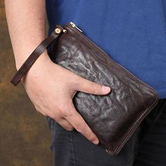 Handmade Top Grain Clutch Bag Wallets For Men Wristlet Bag Wallet iphone Bags Q. - Men's style, accessories, mens fashion trends 2020 Backpack Purse, Clutch Bag, Crossbody Bag, Satchel Bag, Tote Bag, Fashion Bags, Fashion Handbags, Mens Fashion, Fashion Trends