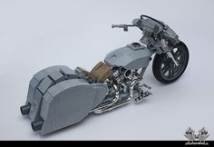 Harley Davidson Custom 'Ratted' Bagger in Lego 1/10 | by bricksonwheels