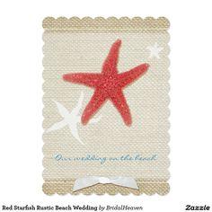 Red Starfish Rustic Beach Wedding