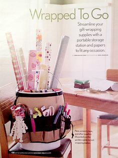 25 WAYS TO ORGANIZE YOUR GIFT WRAPPING ... good for all year, but we think of it most at Christmas